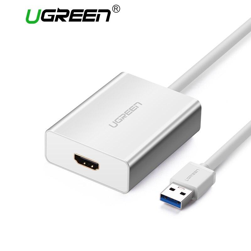 Ugreen USB HDMI VGA, dvi внешний адаптер USB к HDMI Multi-Дисплей адаптер мужчин и женщин проектор Разъем конвертер USB HDMI