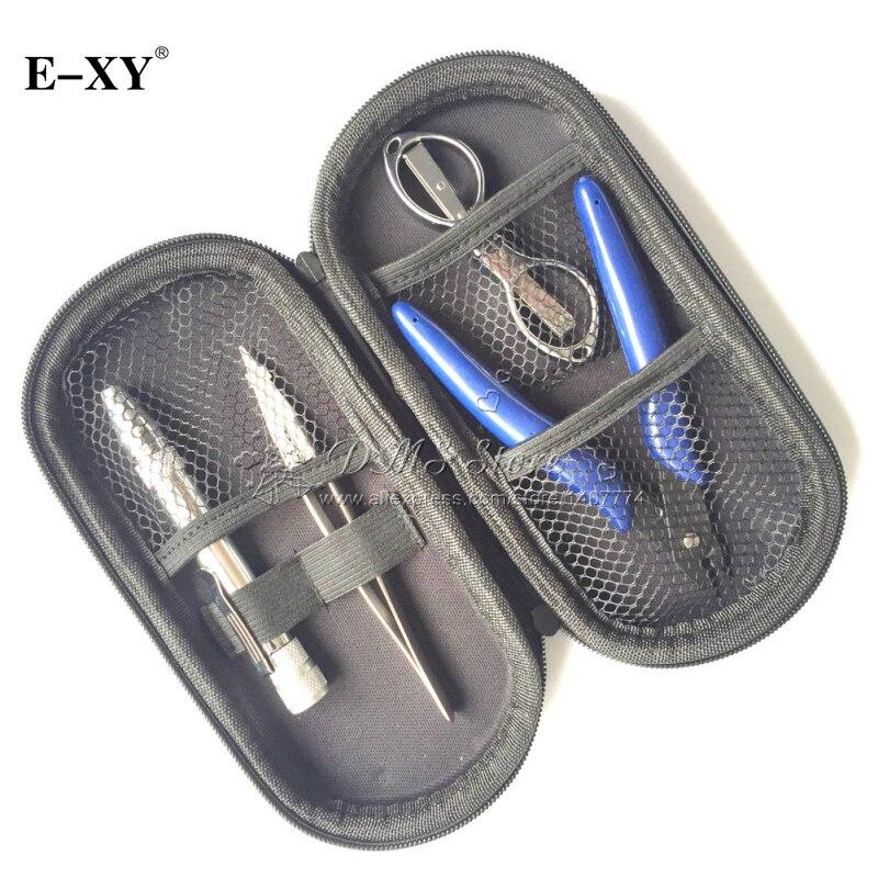E-XY 4 IN 1 Coil Tools Master Kit For E Cigarette RDA RBA RTA RDTA Atomizer Tank Rebuild Vape Mod vaporizer Master kit