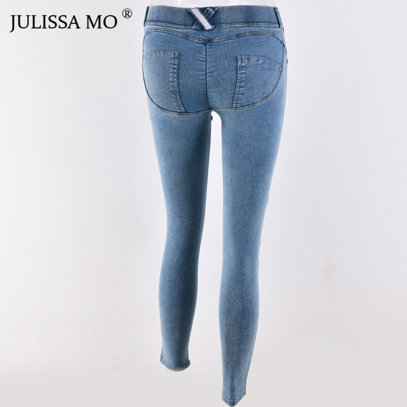 Julissa Mo Women Full Hip Skinny Elastic Waist Stretch Jeans New Fashion Autumn Winter Sexy Jeans Pencil Pants Leggings #6