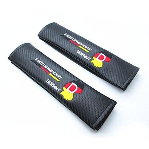 2 шт. германия Deutschland Motorsport углеродного волокна стайлинга автомобилей аксессуары сиденье плечи подушку грузовик 0