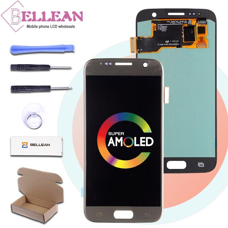 HH Promotion S7 affichage pour Samsung Galaxy G930 Lcd G930F G930L G930S S7 Lcd écran tactile numériseur assemblée livraison gratuite
