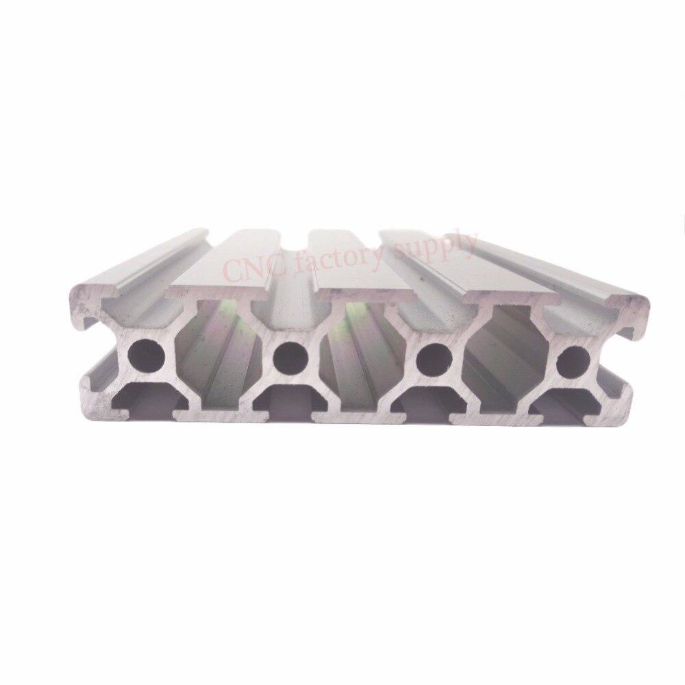 цена на HOT Sale CNC 3D Printer Parts European Standard Anodized Linear Rail Aluminum Profile Extrusion 2080 for DIY 3D printer