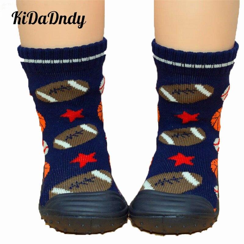 Kidadndy Enfant Shoes Girl Boys Socks With Rubber Soles Kids Soft Bottom Non-Slip Floor Baby Socks Toddler Girl Boy LMY002yd