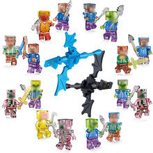 SingleSale Smartable Minecrafted Style mini Zombie Steve figure Building Blocks Toys Compatible Legoing Minecrafted Model Bricks