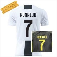 ed917e039 2018-2019 Juventus 7 Ronaldo jersey Home and Away T-shirt Personalizada  número nome