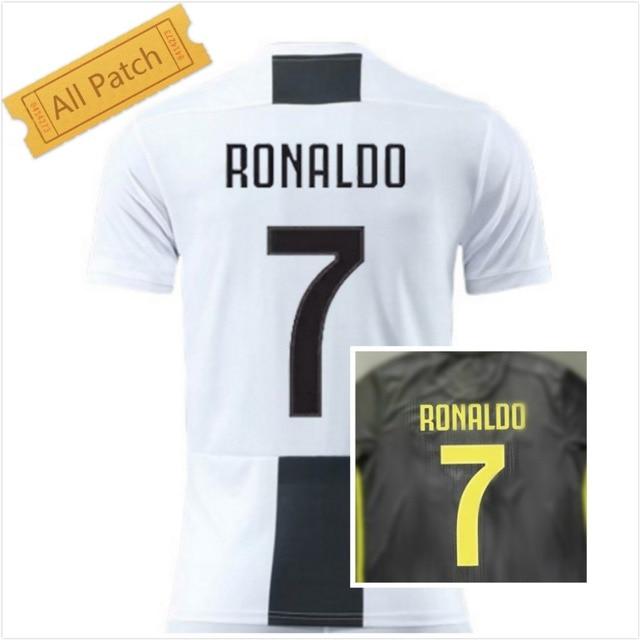 6c2fc9a91 2018-2019 Juventus Ronaldo 7 jersey Home and Away T-shirt Custom number name