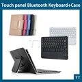 Универсальный сверхтонкий беспроводная связь bluetooth клавиатура с тачпадом чехол для Android PC для окон для 7 8 дюймов планшет пк