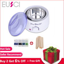 Wax Warmer Heater Paraffin Wax Machine Kit SPA Body Epilator Leg Depilatory Skin Care Hair Removal Tool With Hard Wax Beans EU P цена 2017