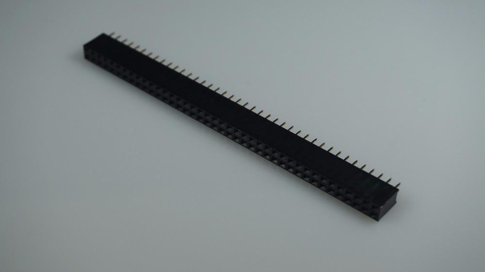 product 10pcs Pitch 2.54mm 2x40 Pin Female Dual Row Pin Header Strip DIP type through hole dual rows PCB Socket Headers