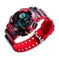 Relogio мужская Мода светодиодные часы Аналоговые Кварцевые Цифровые Часы Мужчины Водонепроницаемый Спорт Стиль Милитари Часы