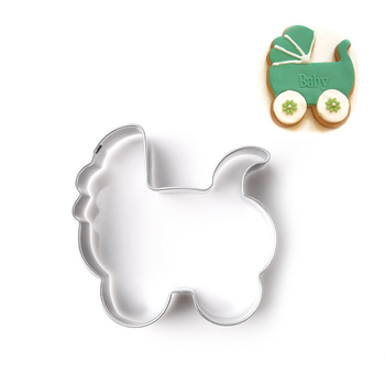 3d baby car shaped stainless steel cookie cutter cake molds for pastry biscuit baking