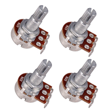 цена на 25K Guitar Bass Split Shaft Potentiometer for Volume or Tone for electric guitar with 18mm potentiometer