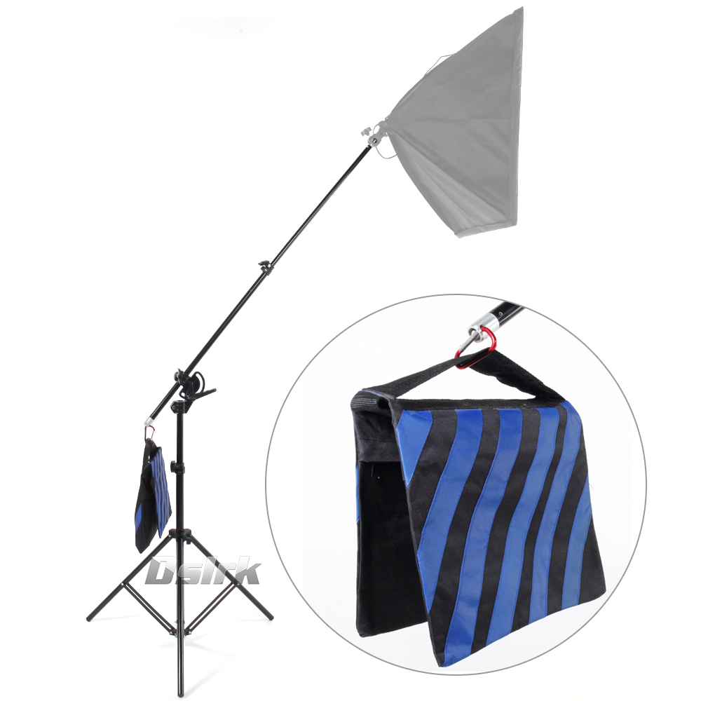 ASHANKS Photography 2 in 1 3M Top Light Stand as Boom Arm Stand Large Lamp Holder Kits for Photo Studio Light Softbox Load 8KG