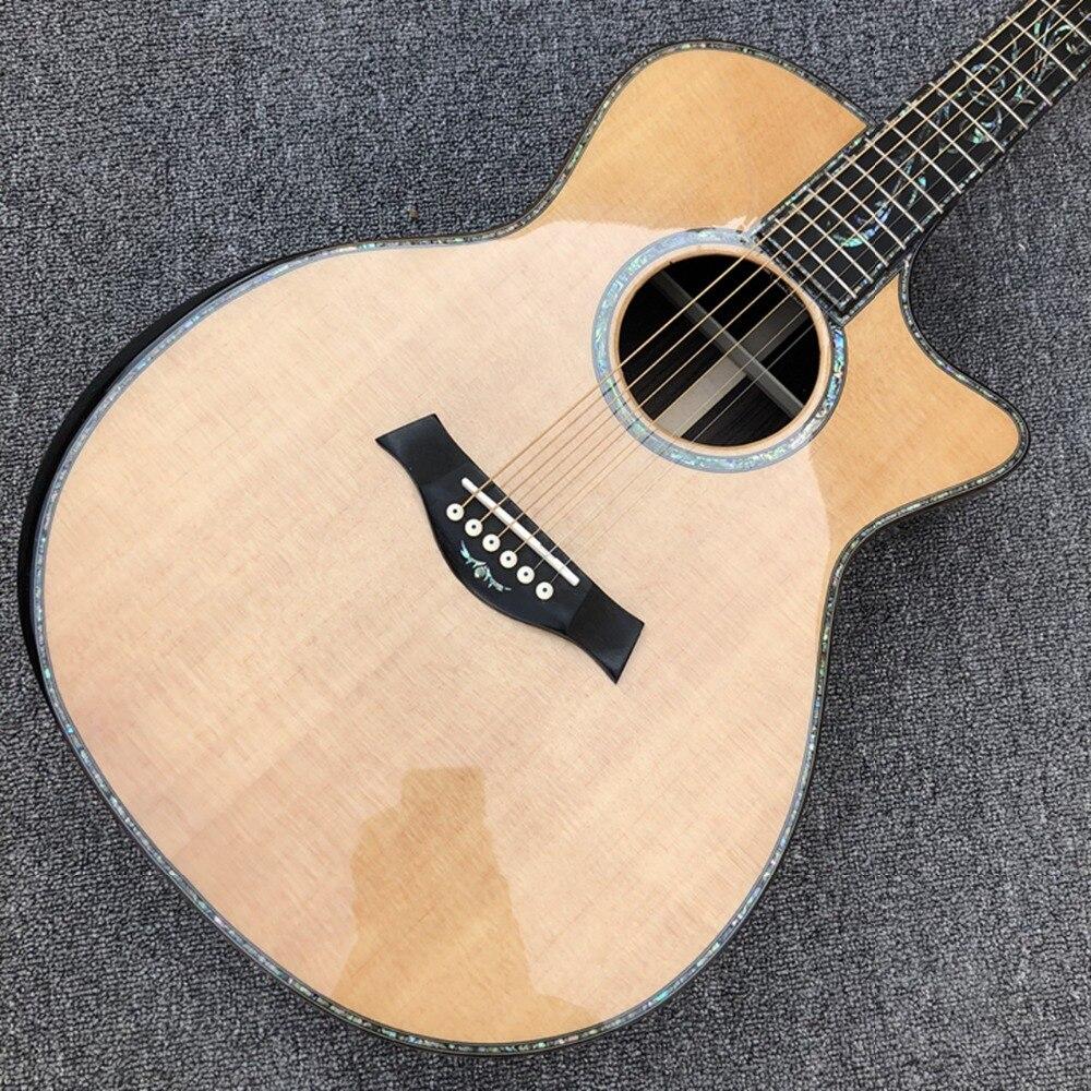 """Table en épicéa massif guitare acoustique Chaylor SP14, touche en ébène 41 """"véritables accordeurs dorés ormeau guitare PS14ce livraison gratuite"""