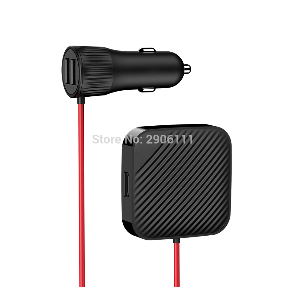USB Extension Cable Car-Charger Car Front And Rear Seat Vehicle charger for Nissan qashqai tiida almera juke primera x-trail