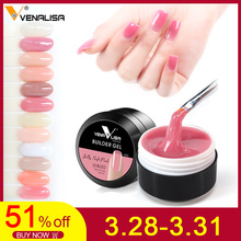 hot sale Venalisa newest products 12 colors camouflage color uv nail polish builder construction extend nail hard jelly poly gel(China)
