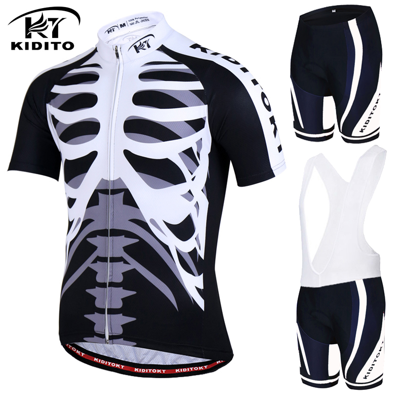 Prix pour Kiditokt marque 2017 nouveau vélo jersey définit vtt vélo vêtements vêtements de course de vélo de montagne vêtements uniforme maillot ropa ciclismo