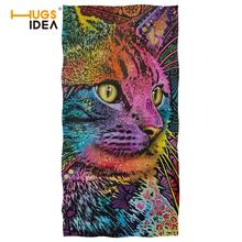 Absorbent Drying Bath Beach Towel Cat Dog Printed Washcloth Swimwear Shower Face