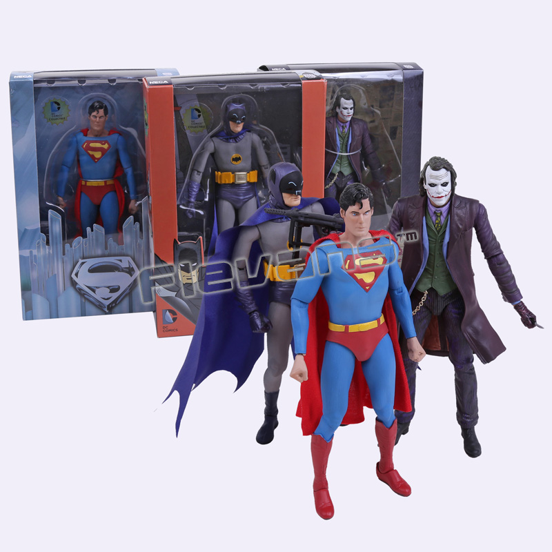 NECA DC Comics Batman Superman The Joker PVC Action Figure Collectible Toy 7 18cm 3 Styles neca batman begins bruce wayne joint movable pvc action figure collectible model toy 7 18cm
