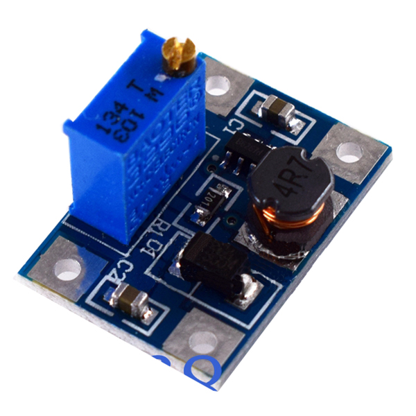 1 pcs blue metal + PCB high current 2A SX1308 DC-DC adjustable boost module 2.28*1.59*1.32cm