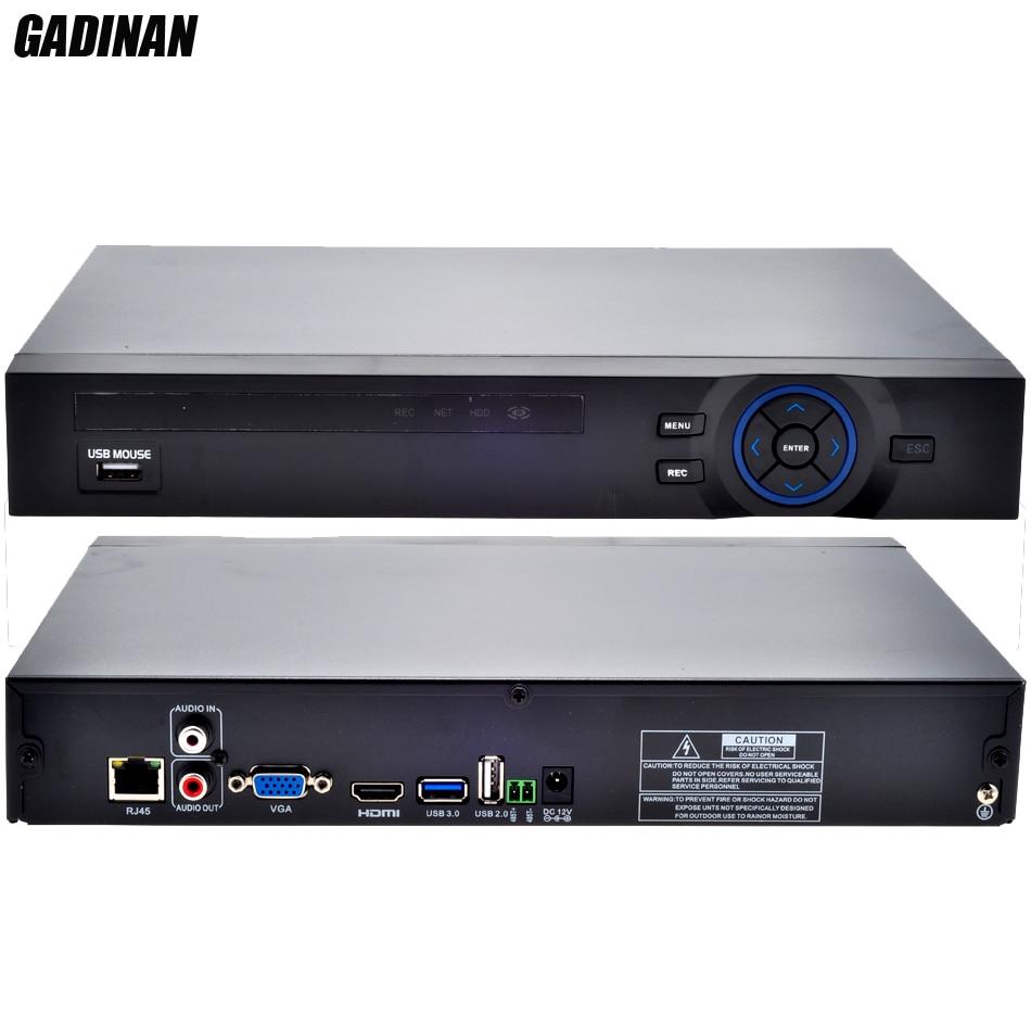 GADINAN ONVIF CCTV NVR 32CH 1080 P/8CH 5 M/16CH 4 M Sécurité Réseau Enregistreur HDMI 1080 P Sortie full HD Soutien Wifi 3G RTSP