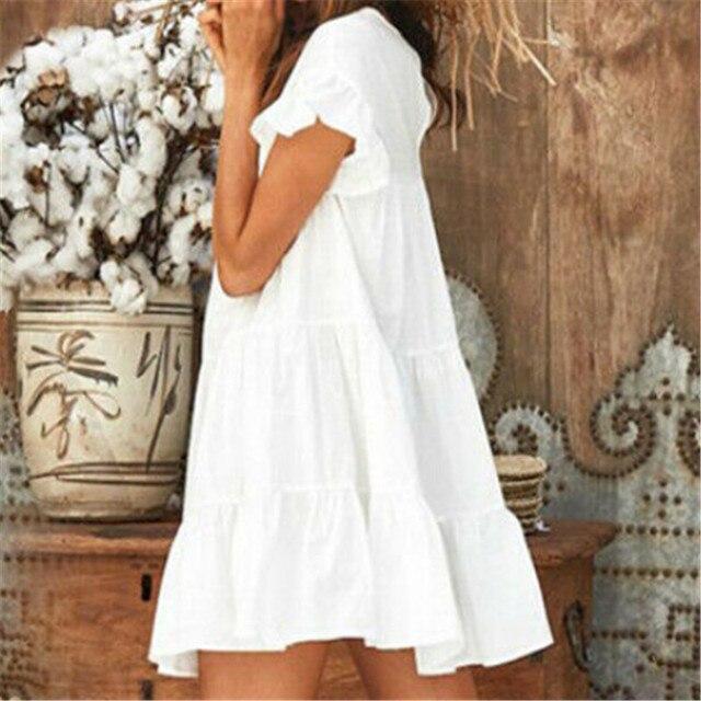 Short Sundress With Cascading Ruffles 2