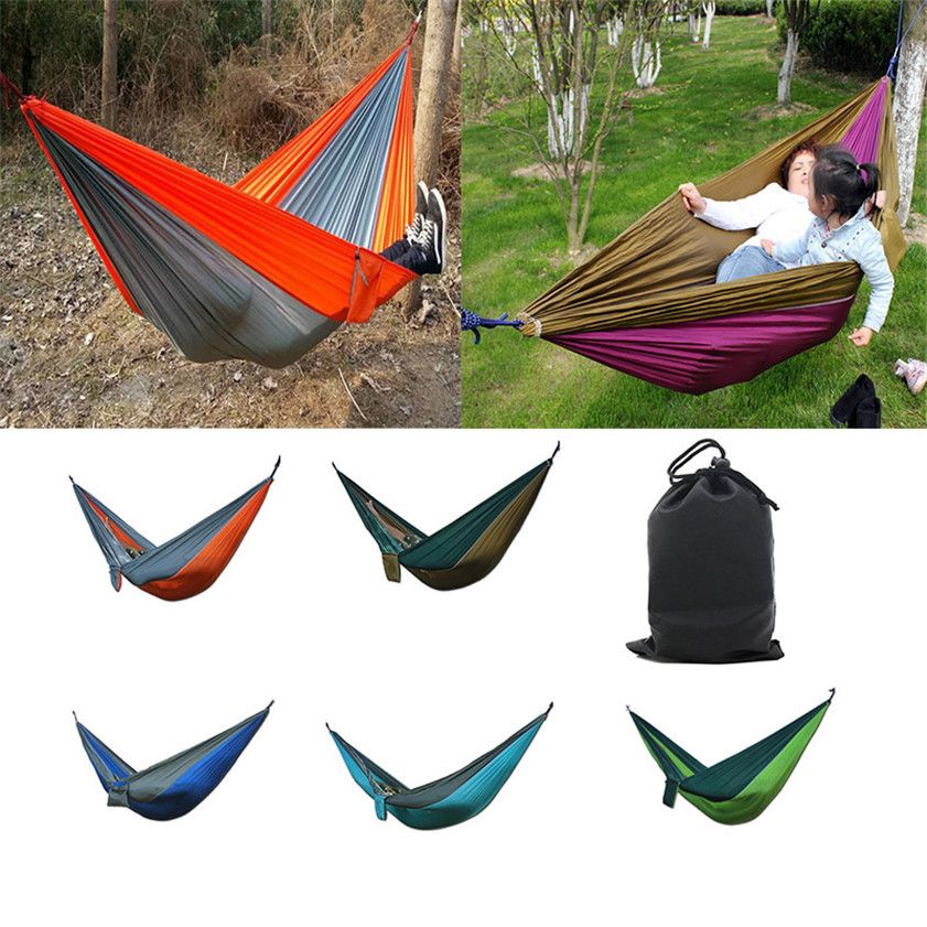 Canvas Garden Hammock Camping Tent Outdoor hammock chair Portable Travel Beach Fabric Swing Bed NEW 2 people portable parachute hammock outdoor survival camping hammocks garden leisure travel double hanging swing 2 6m 1 4m 3m 2m