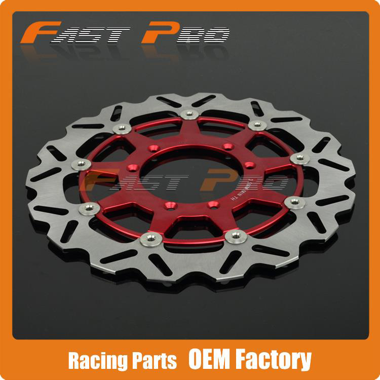 320MM Front Wavy Floating Brake Disc Rotor For CR125 CR250 CRF250R CRF250X CRF450R CRF450X CRF230F CR500 Supermoto Motard keoghs motorcycle brake disc brake rotor floating 260mm 82mm diameter cnc for yamaha scooter bws cygnus front disc replace