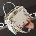 2017 bolsa feminina женской моды peekaboo тотализатор большая сумка роскошные сумки вышивка известный печати заклепки волны кошелек