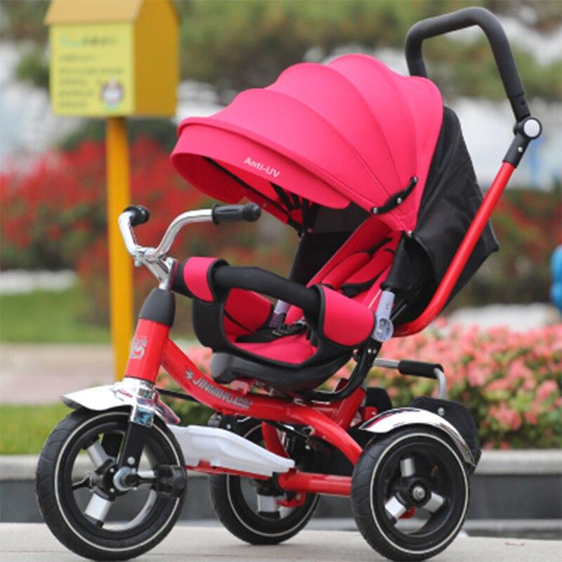 Stokke Stroller Hot 2018 Walker Bayi Pepejal Baru Boleh Digunakan Untuk Tidur Pada Putaran Basikal Tiga Basikal Basikal Kanak-kanak Basikal