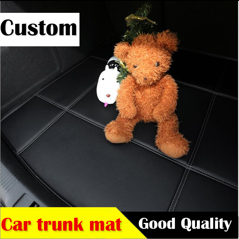 3D Custom car trunk leather mat for Honda Civic CRV City HRV Vezel Crosstour Fit car styling heavey duty tray carpet cargo liner