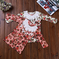 New 2016 Baby Girls Long Sleeve T Shirt Girl Cotton Autumn T-shirt Kids Cute Flower Tee Children Fashion Tops