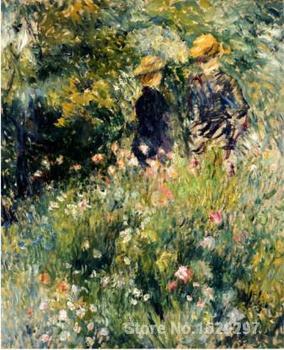modern art reproductions Conversation Dans Une Roseraie-Pierre Auguste Renoir High quality Hand-painted