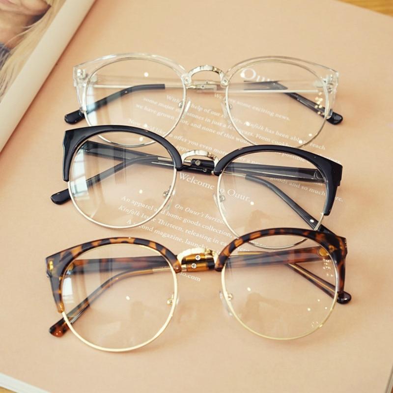 Barato Transparent Spectacle Frame antifatiga para los ojos de gato Gafas de los hombres Mujeres Gafas de Grau Masculino Retro Vintage Eyewear