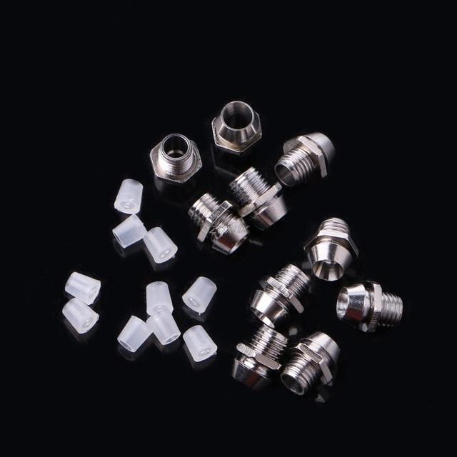 10 Pcs 3MM Round Chrome Metal Base LED Light Emitting Diode Bezel Holder Active Components Whosale&Dropship 3