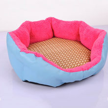 Cozy Dog Pet Summer Breathable Sleeping Mat Bed Puppy Cat Doggie Cooling Pad Cushion Oval Grid Bamboo Mats(China)