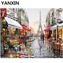 YANXIN DIY Frame Painting By Numbers Oil Paint Wall Art Pictures Decor For Home Decoration H355(China)
