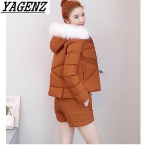 203da0067a9e YAGENZ Winter Lady Suit Top Shorts 2-piece Casual Sets