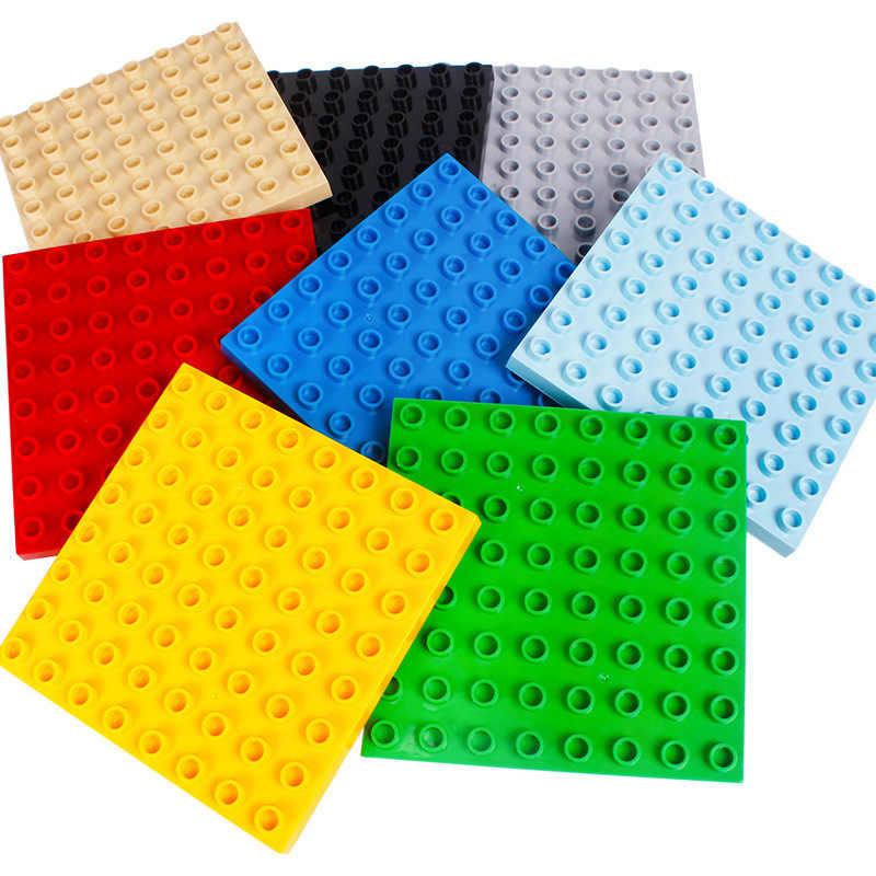 12,8x12,8 cm placa base de dos lados tamaño grande Diy bloques de construcción compatibles con juguetes de placa base para regalo de los niños
