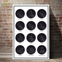 Posters Zodiac Signs Ram Star Sign Nordic Poster Wall Art Canvas Prints Painting Decoration Pictures Scroll