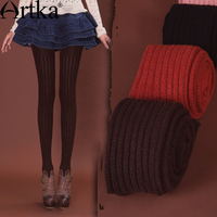 98 Akkadian Autumn Slim All Match Elastic Twisted Wool Tights Pm17033q Chromophous