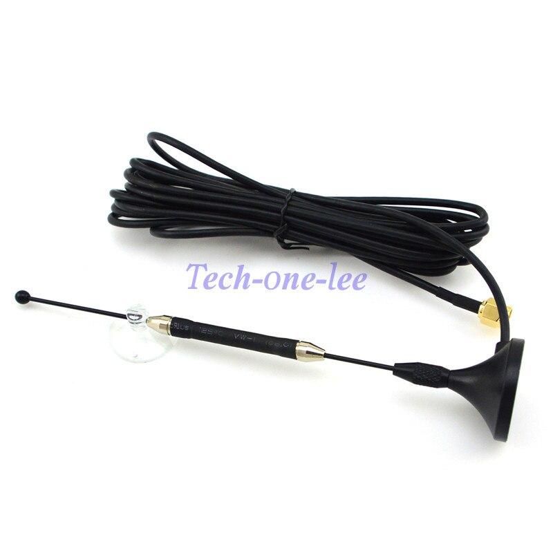 2 pièce/lot 4g 10dbi LTE Antenne 3g 4g lte Aérienne 698-960/1700-2700 mhz avec base magnétique SMA Mâle RG174 3 m Clair Sucker Antenne