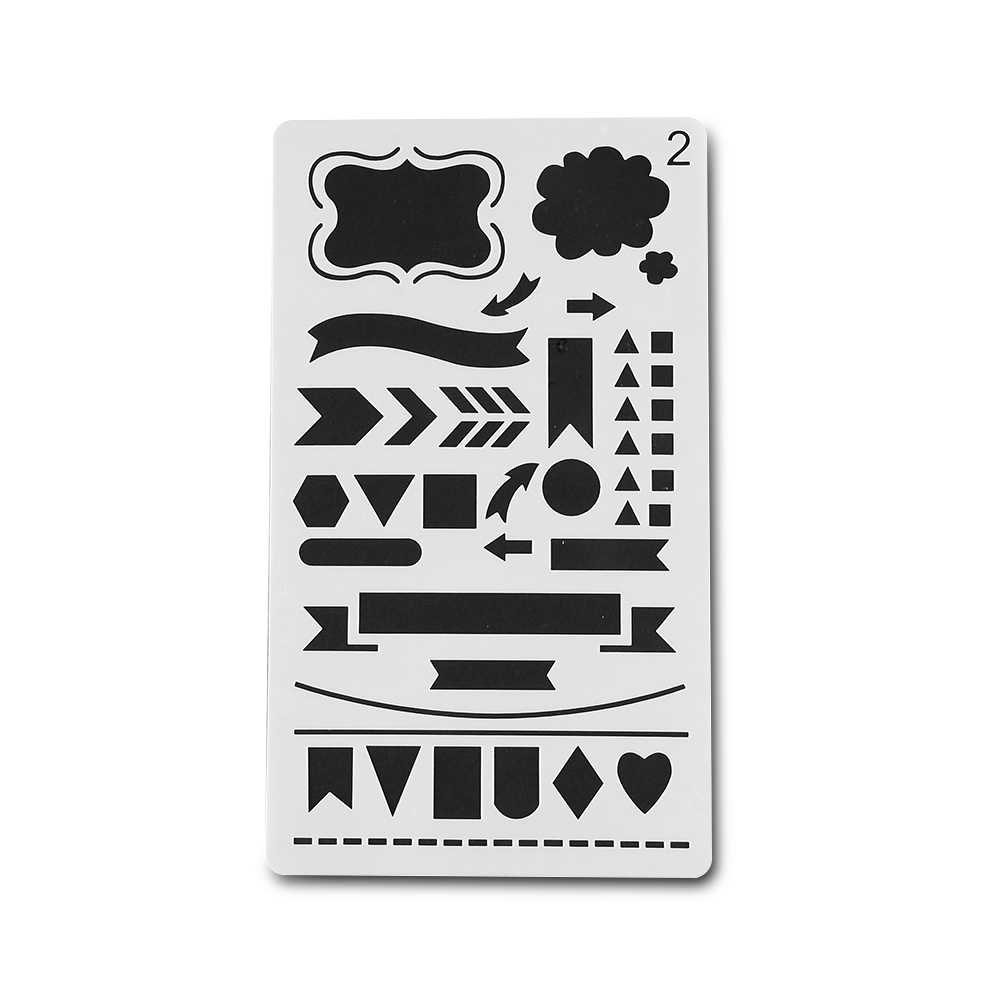 1 Tạp Chí Stencil Nhựa Stencils Tạp Chí/Máy Tính Xách Tay/Nhật Ký/Sổ Lưu DIY Trường Văn Phòng Phẩm Vật Dụng Văn Phòng số 2