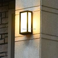Outdoor Waterproof LED Wall Lamps IP54 AC85 265V E27 9W LED Bulbs Aluminum Exterior Courtyard Garden Porch Corridor Lights DHL