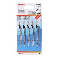 5 pces t101ao hcs t shank jigsaw lâminas curva ferramenta de corte kits para plástico de madeira|Lâminas de serra|   -