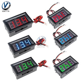 0.56 inch 0.56 Mini Digital Voltmeter DC 4.5V to 30V AC 70V to 500V Voltage Panel Meter For 6V 12V Electromobile Motorcycle Car image