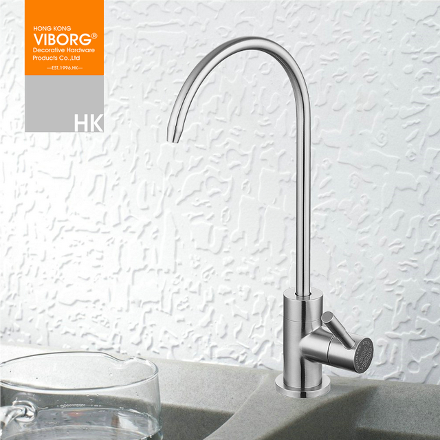 Kitchen Faucet Filter Tops Wood Viborg 304 Stainless Steel Lead Free Drinking Water Filtration System Purifier Tap