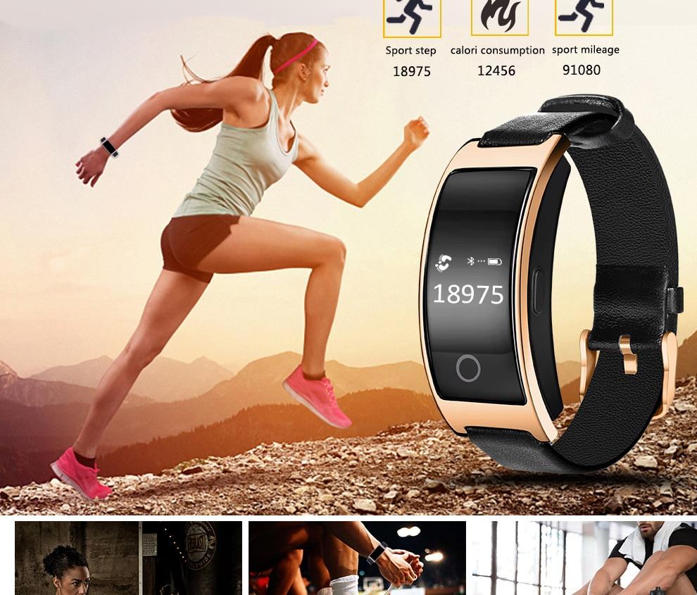 CK11S Wristband Blood Pressure Watch Blood Oxygen Heart Rate Monitor Pedometer IP67 Waterproof marigold 8