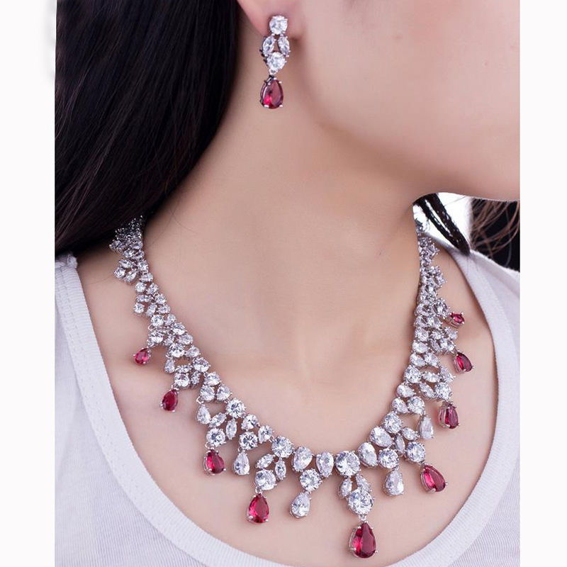 2017 Hot Micro Inlay Craft AAA+ Cubic Zircon Stone Water Drop Jewelry Sets For Women Wedding Jewelry Juwelen Sets For Girl AS0312017 Hot Micro Inlay Craft AAA+ Cubic Zircon Stone Water Drop Jewelry Sets For Women Wedding Jewelry Juwelen Sets For Girl AS031