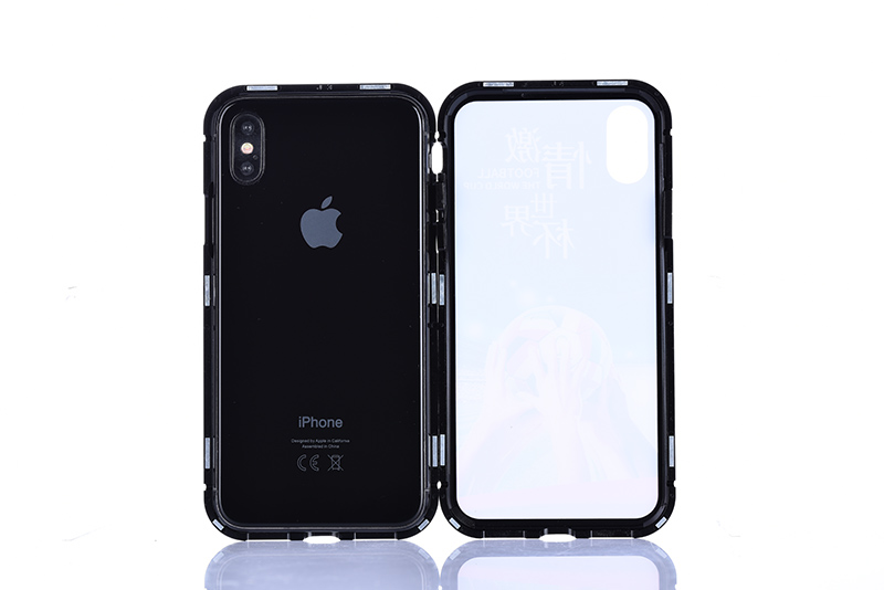 200PCS Magnetic Adsorption Tempered Glass Case for Huawei P20 Pro Lite Hornor and Xiaomi 8 Case Cover without Retail Box